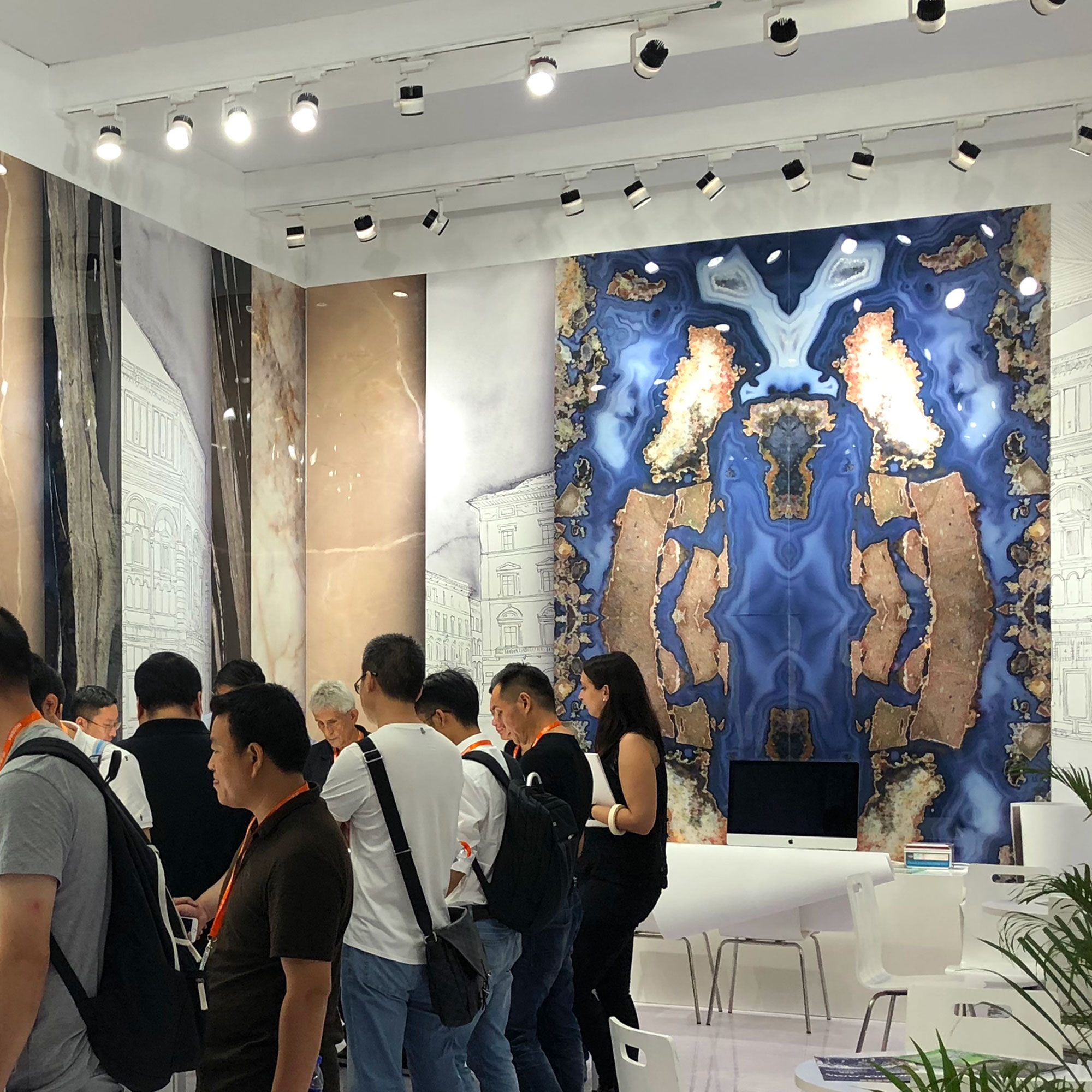 Exhibition Booth Decoration : Decorative panels in exhibition booth